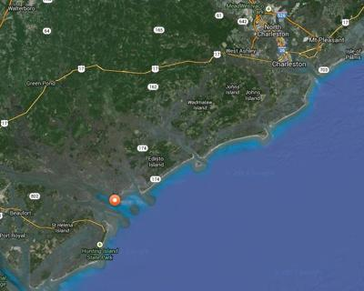 Mary Lee the shark still hanging out off the South Carolina coast