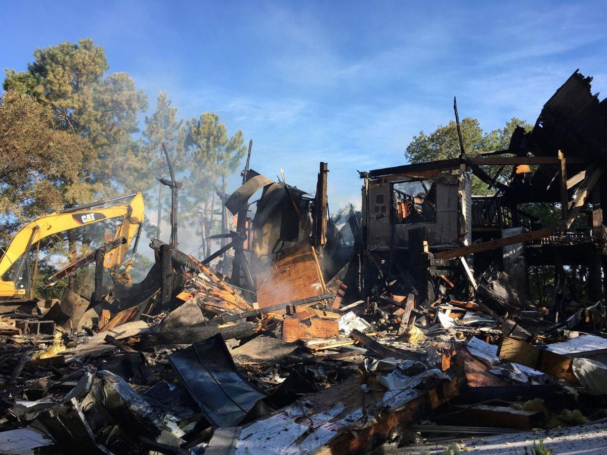 Fire destroys nature center at Huntington Beach State Park