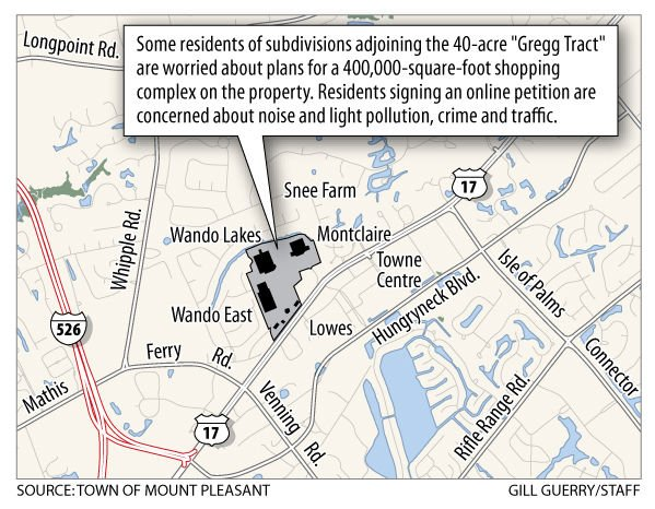 Mt. Pleasant shopping center plan put on hold