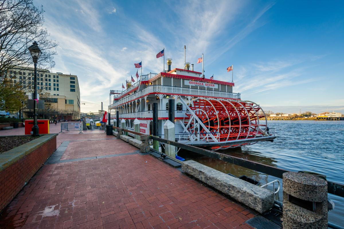 The Georgia Queen Riverboat, in Savannah, Georgia.