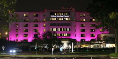 Trident hospital in pink for breast cancer awareness