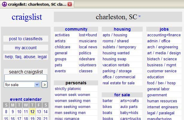 Craiglist north charleston