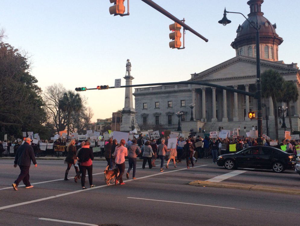 Statehouse Trump protest