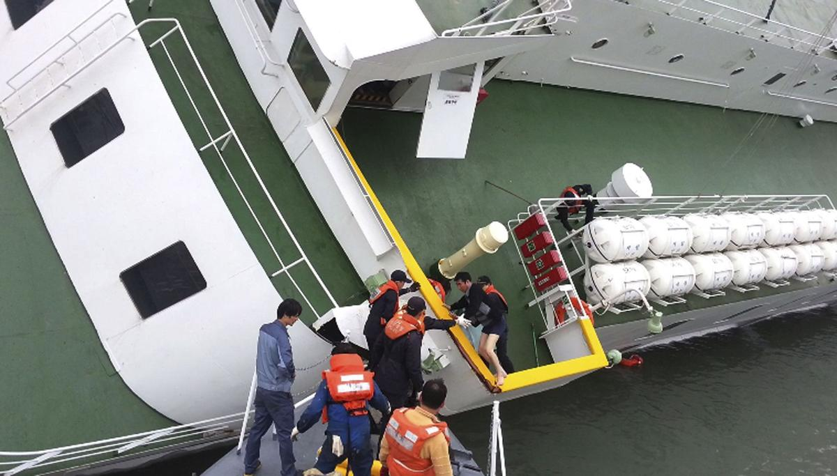 Crew members indicted over South Korean ferry disaster