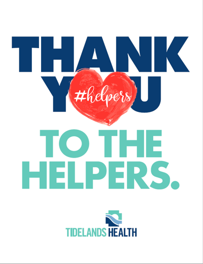 Thank you helpers:' Tidelands Health encourages community to thank ...
