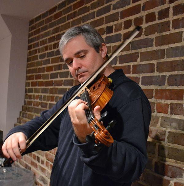 Man follows own path with violin