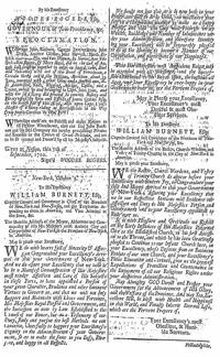 Gov. Woodes Rogers pirate proclamation in The Boston Gazette