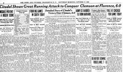 Citadel Clemson newspaper
