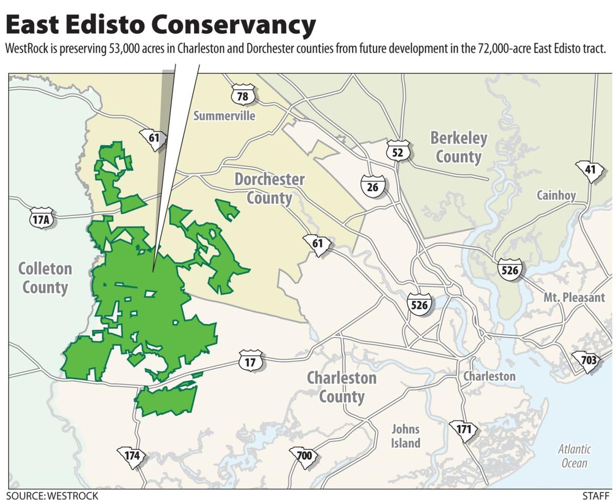 Plan protects 53,000 acres along Edisto WestRock unveils deal, among largest preservation efforts in S.C.