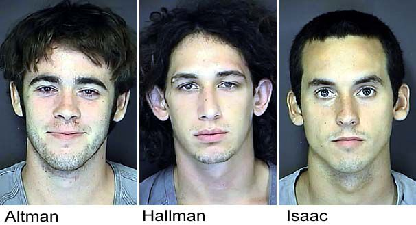 3 men accused of beating 2 after party