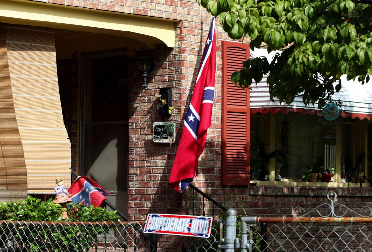 Confederate flag upsets neighborhood