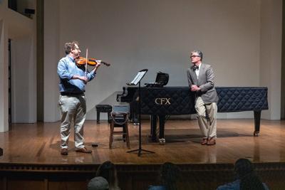 Composer Edward Hart and violinist Yuriy Bekker