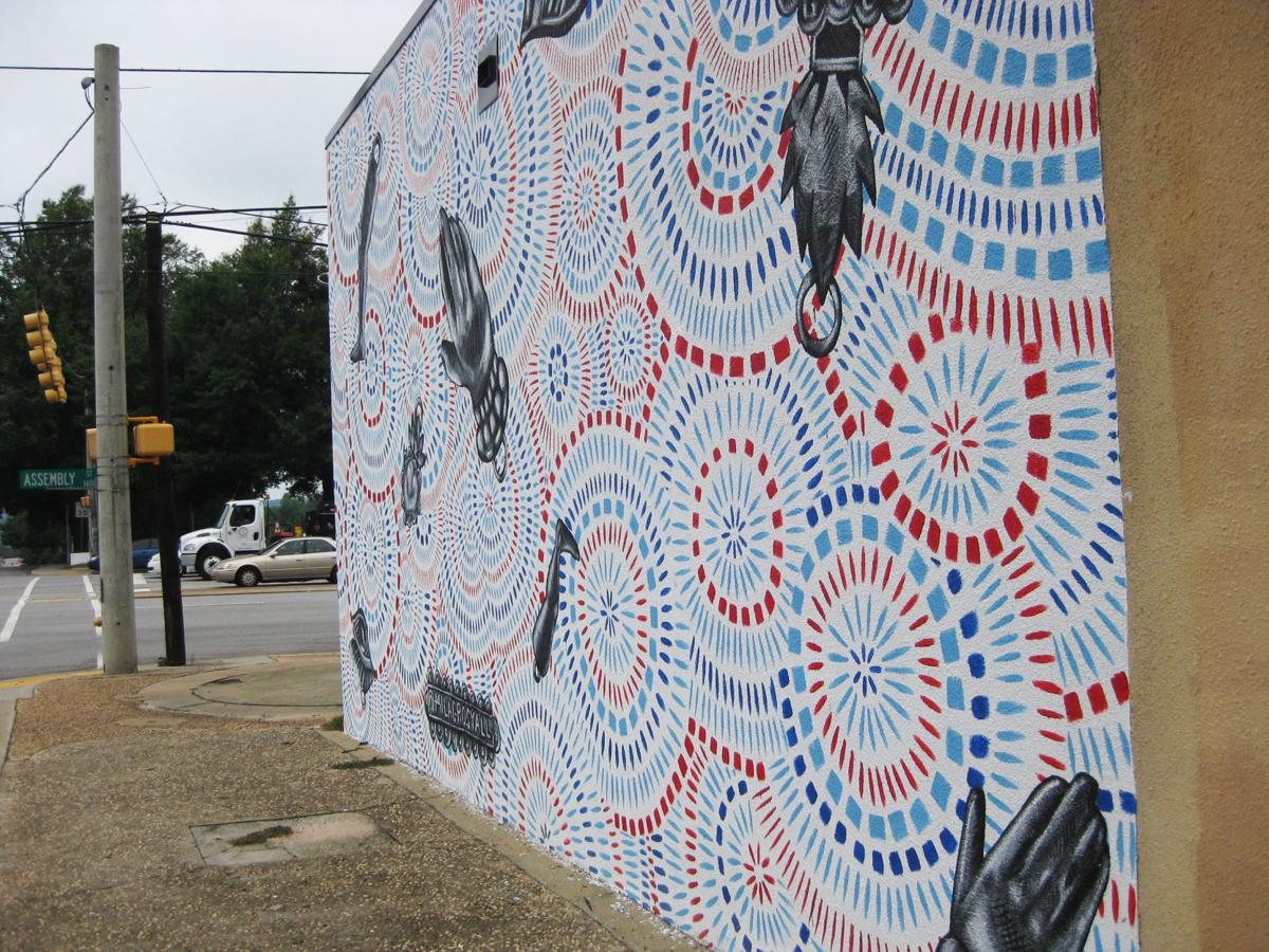 A mural in Columbia by the Milagros Collective, made for the Indie Grits Festival earlier this year. (Adam Parker/Staff)
