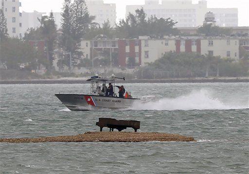 Grand piano found on sandbar in Miami bay