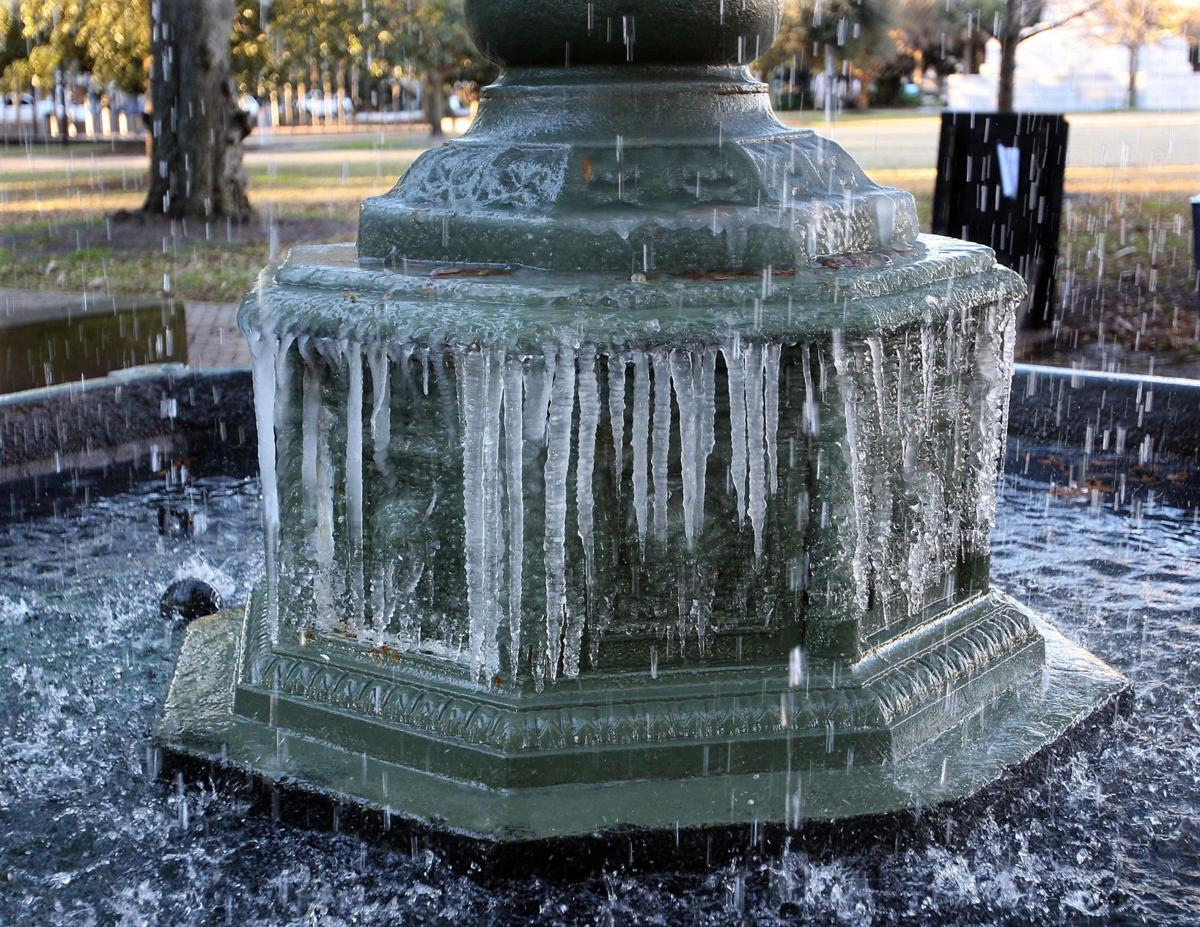 Icy images from Charleston to Peoria