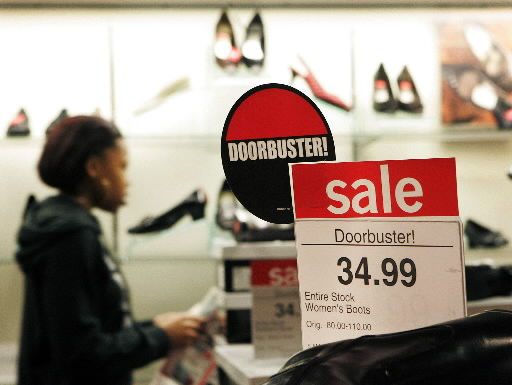 Focused shoppers hit stores