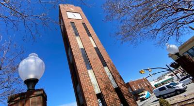 Simpsonville clock tower - Feb. 2021