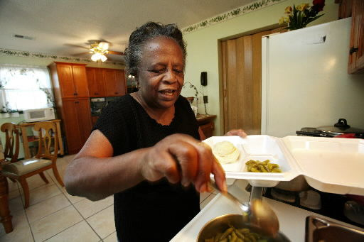 Woman warms hearts, fills bellies