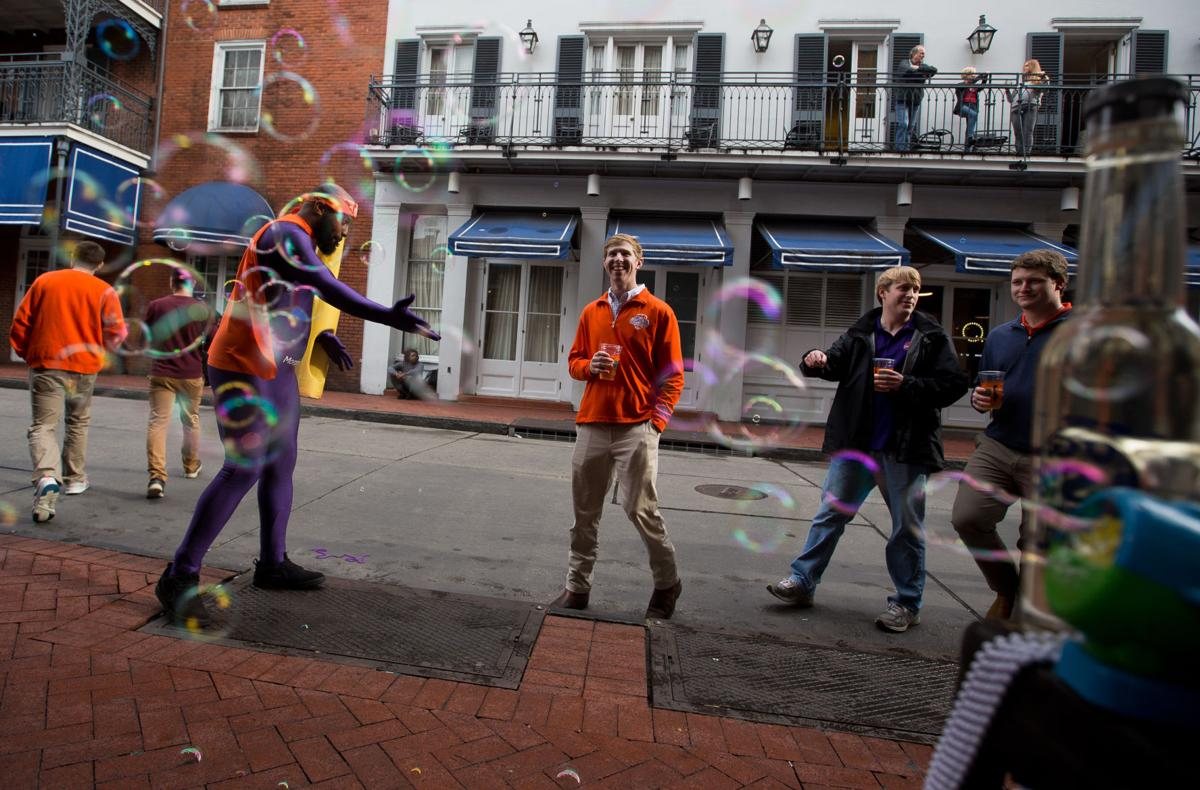 Photos: Clemson and LSU fans flood downtown New Orleans ...
