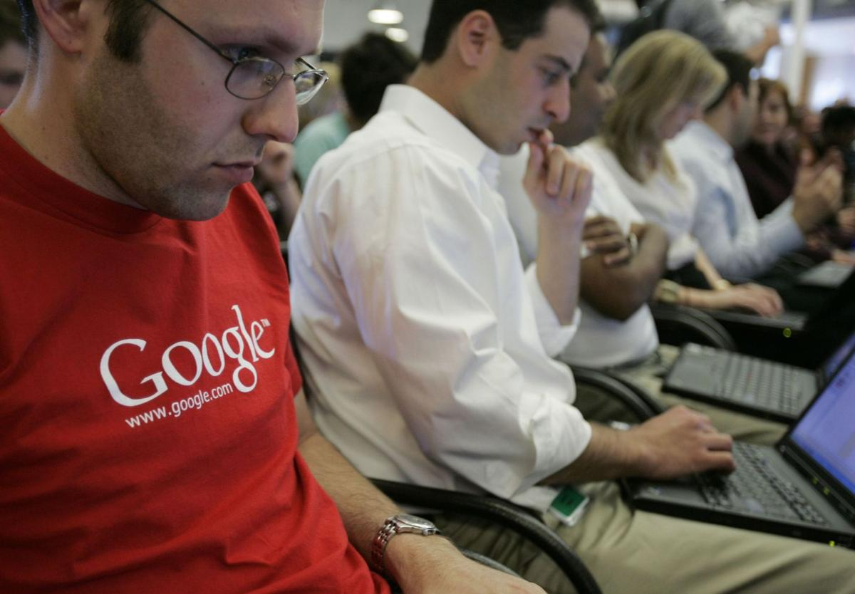 Google says workforce mostly white, male