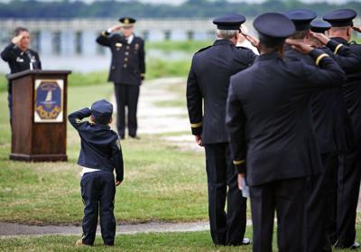 Ceremony in Columbia today to honor fallen police officers