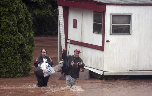 Flooding leads to evacuations of 100K in Pa.