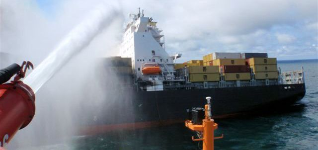 Fire shows global impact of container ships