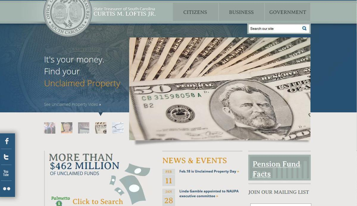 SC treasurer says unclaimed property is searchable online
