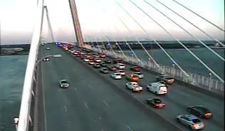 Wreck stalling traffic on Ravenel Bridge