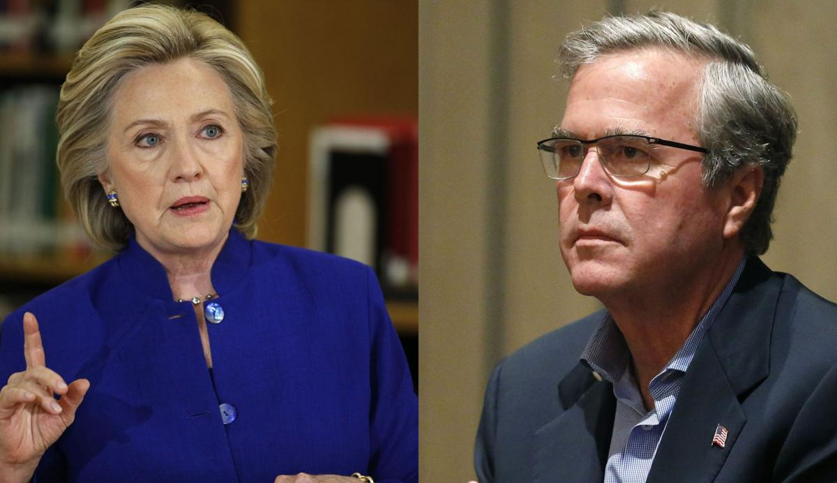 Bush, Clinton taking different tracks on potential matchup