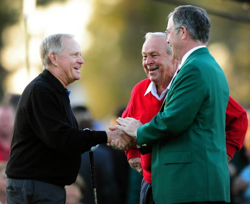 Ceremonial shots, then Masters begins for real