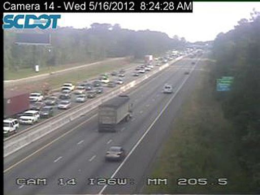 Eastbound I-26 in North Charleston up to speed after early crashes