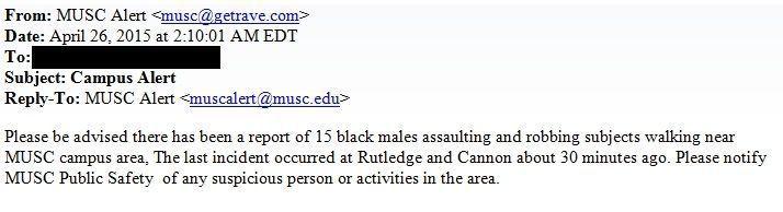 MUSC warns of 15 men assaulting, robbing people near Charleston campus