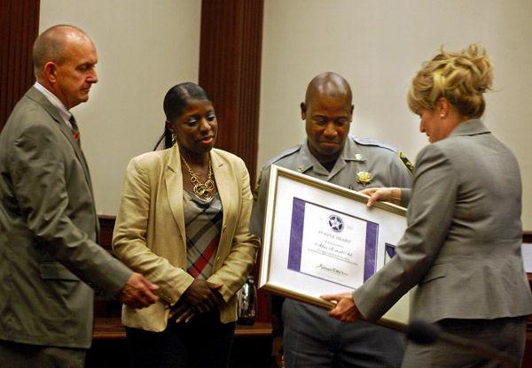 Heroic deputy honored