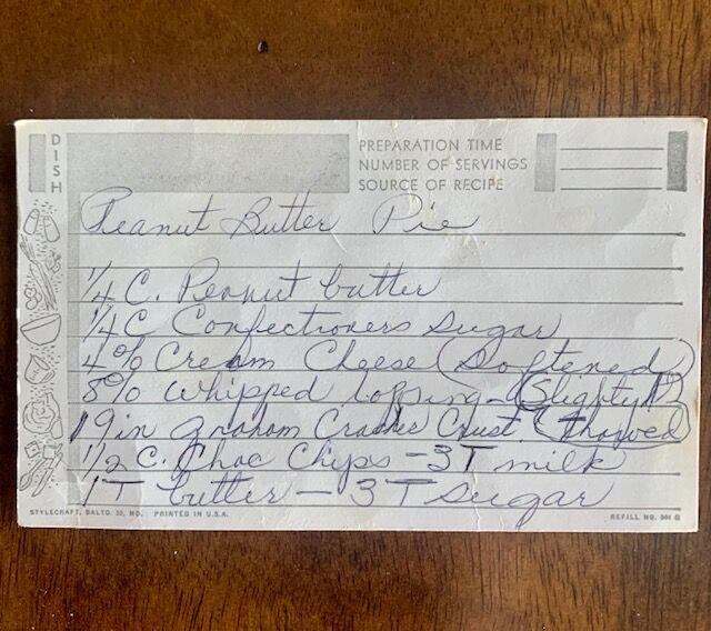 Carey Lynch's recipe card