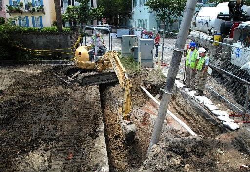 Wall around Charleston reveals buried treasure