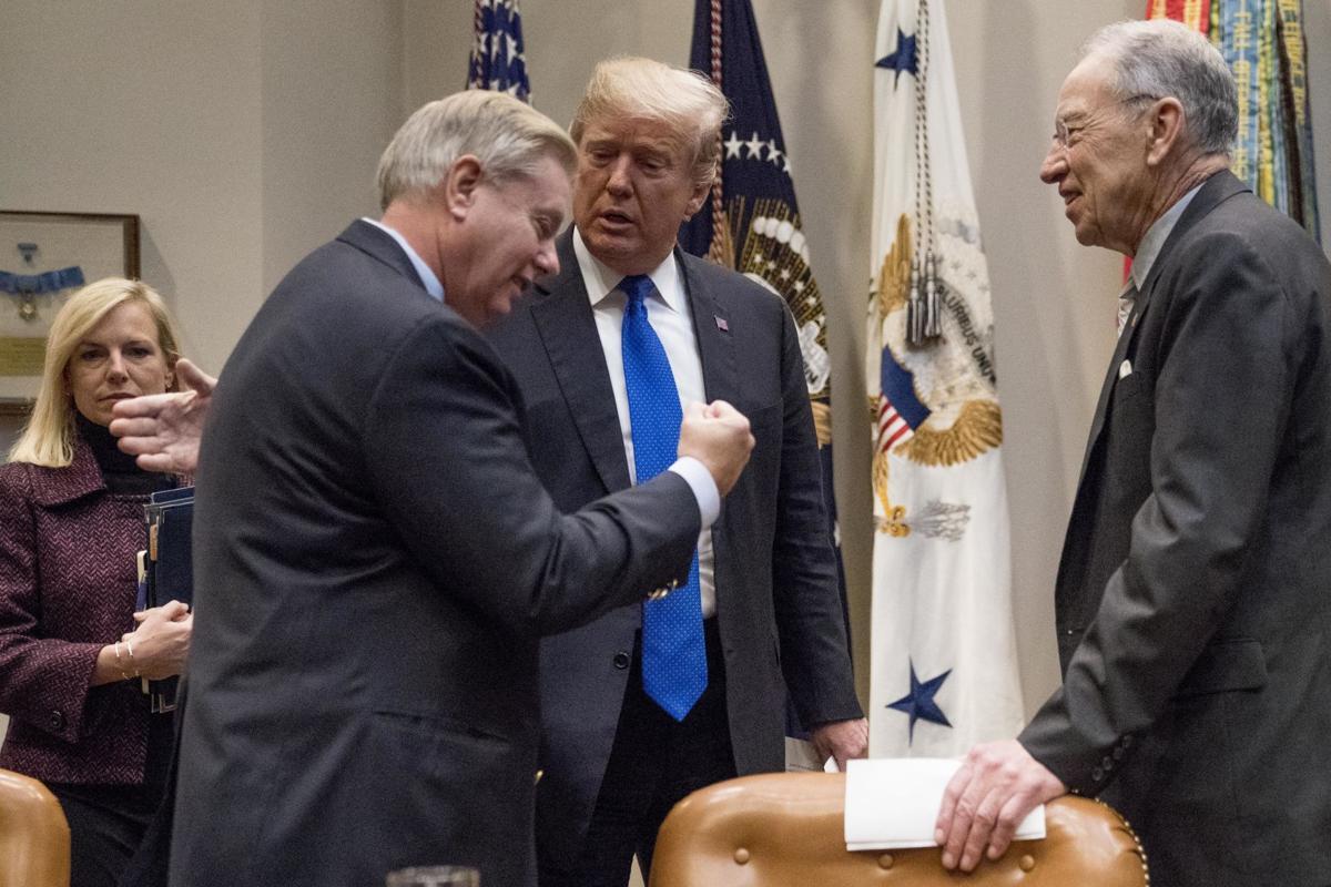 Lindsey Graham and Donald Trump (copy)