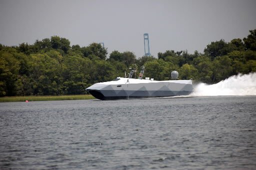 High-tech watercraft cruises through