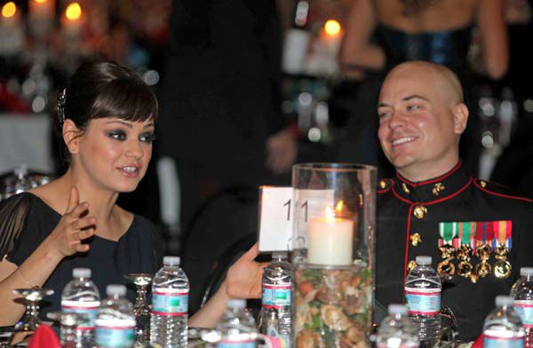 Kunis keeps word to Marine