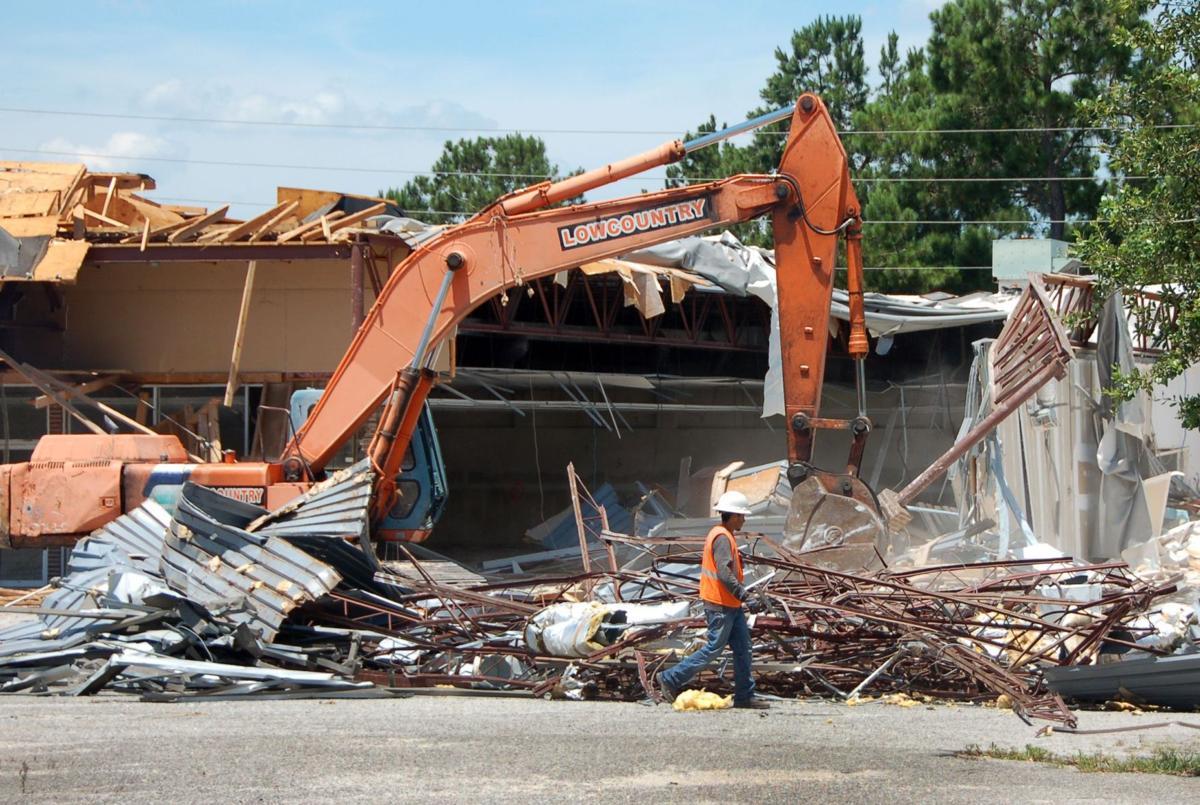 Church Creek Plaza demolition underway