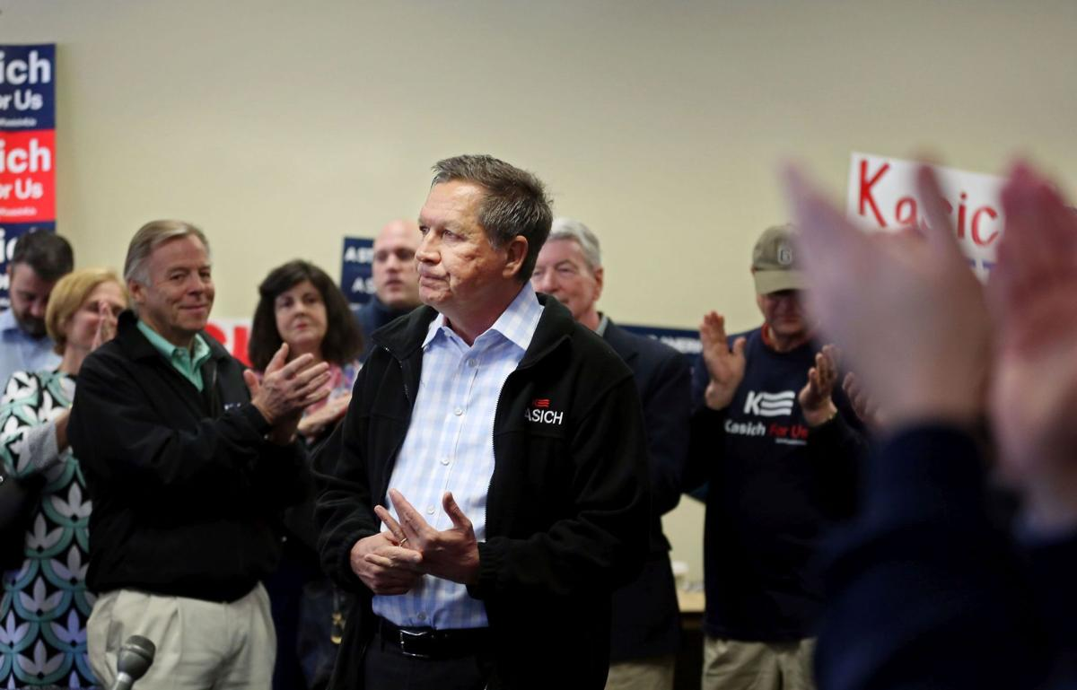 Gov. John Kasich rallies by saying he can best beat Hillary Clinton