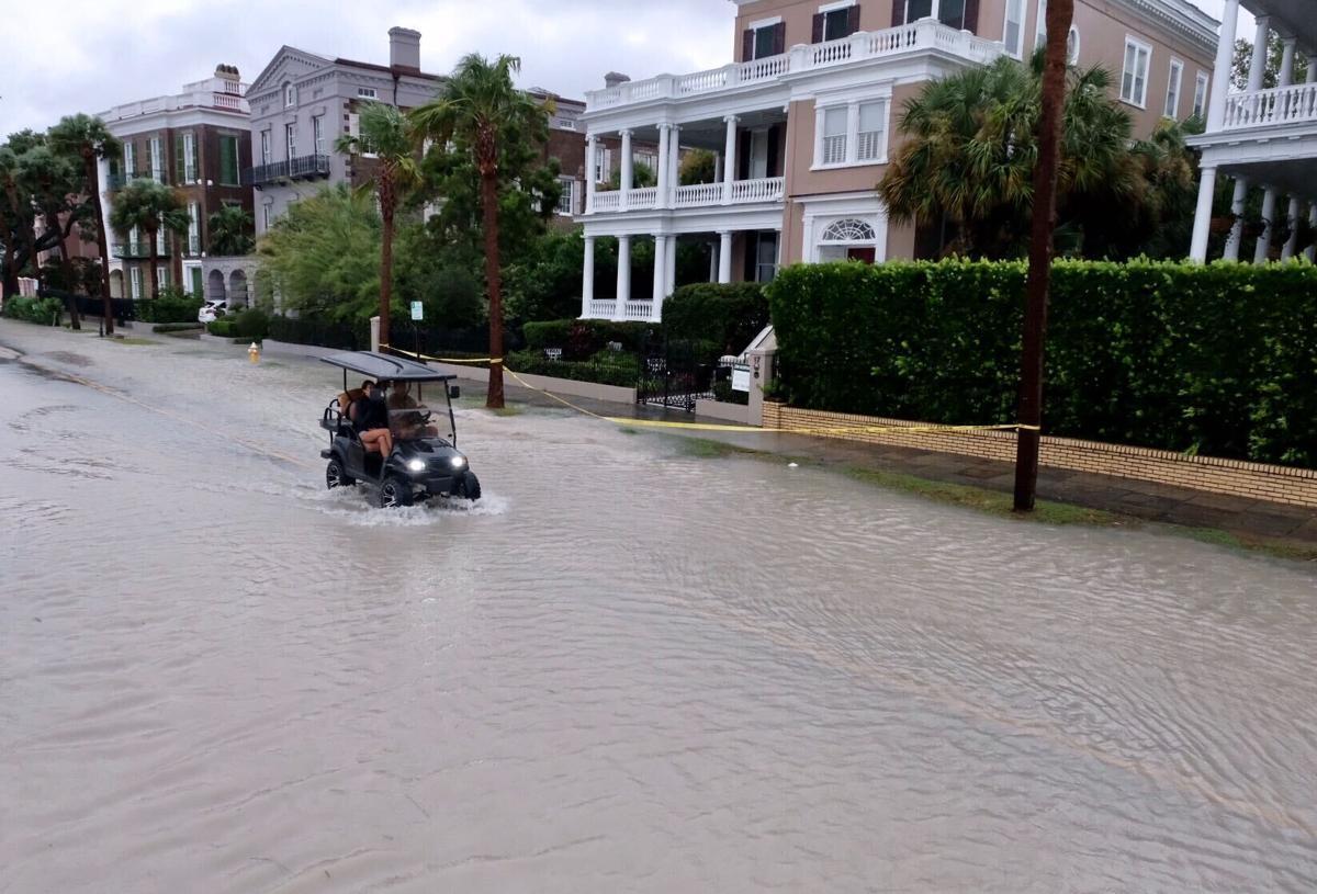 Golf cart flooding
