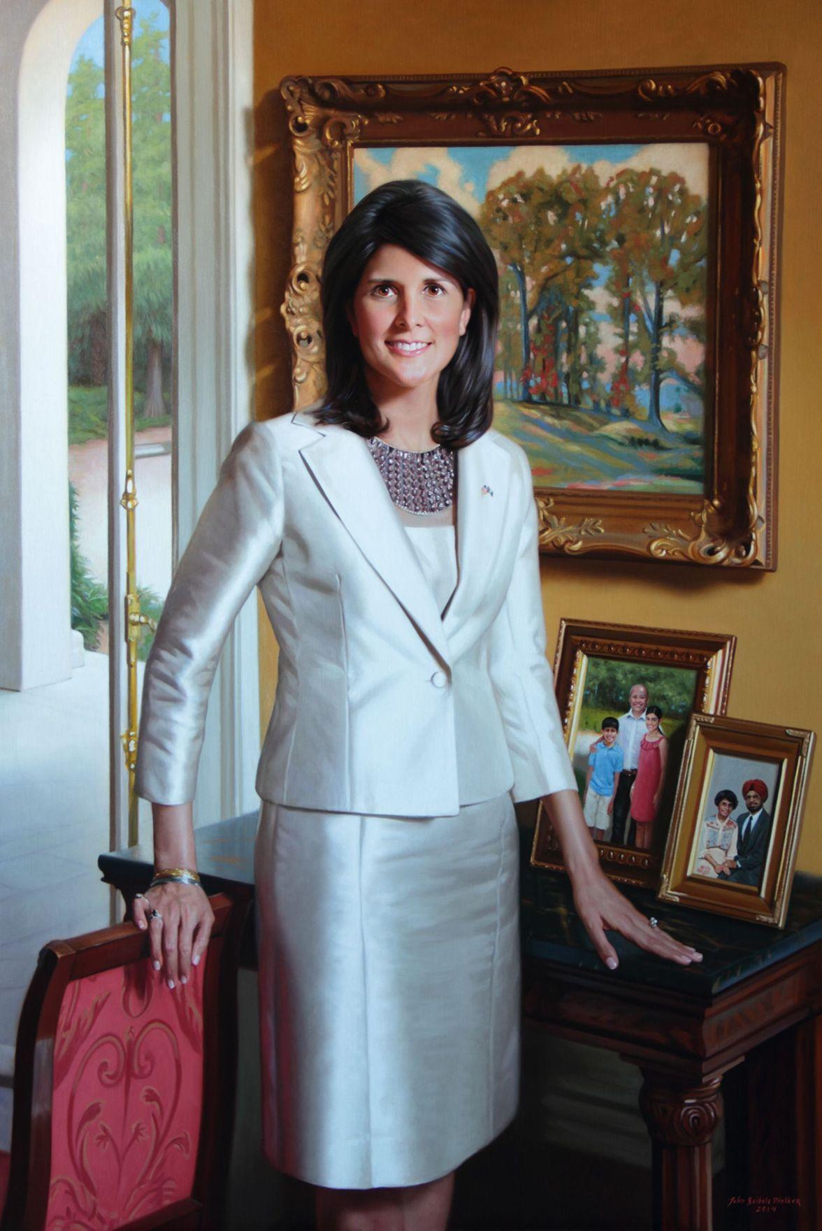 Gov. Nikki Haley unveils official portrait