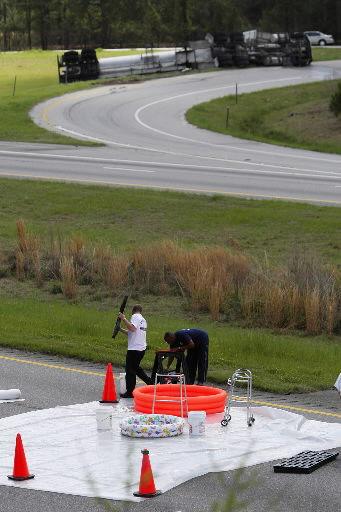 I-26 lanes open after tanker accident