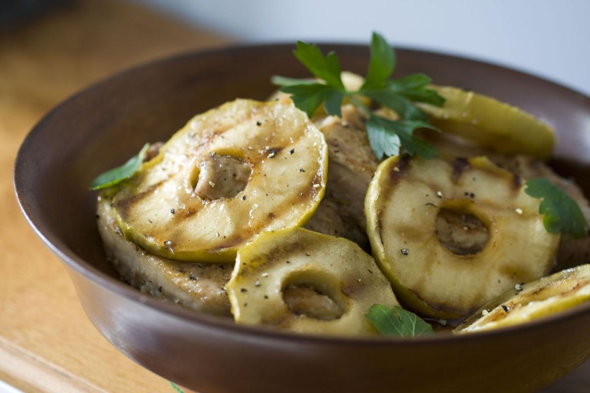 A side of glazed grilled apples goes with any meat
