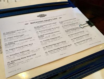 Pizza Joint beer list