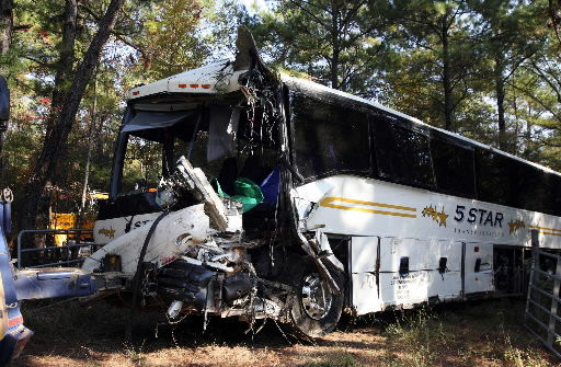 Coroner: Bus driver suffered brain aneurysm before crashing into tree on Interstate 26