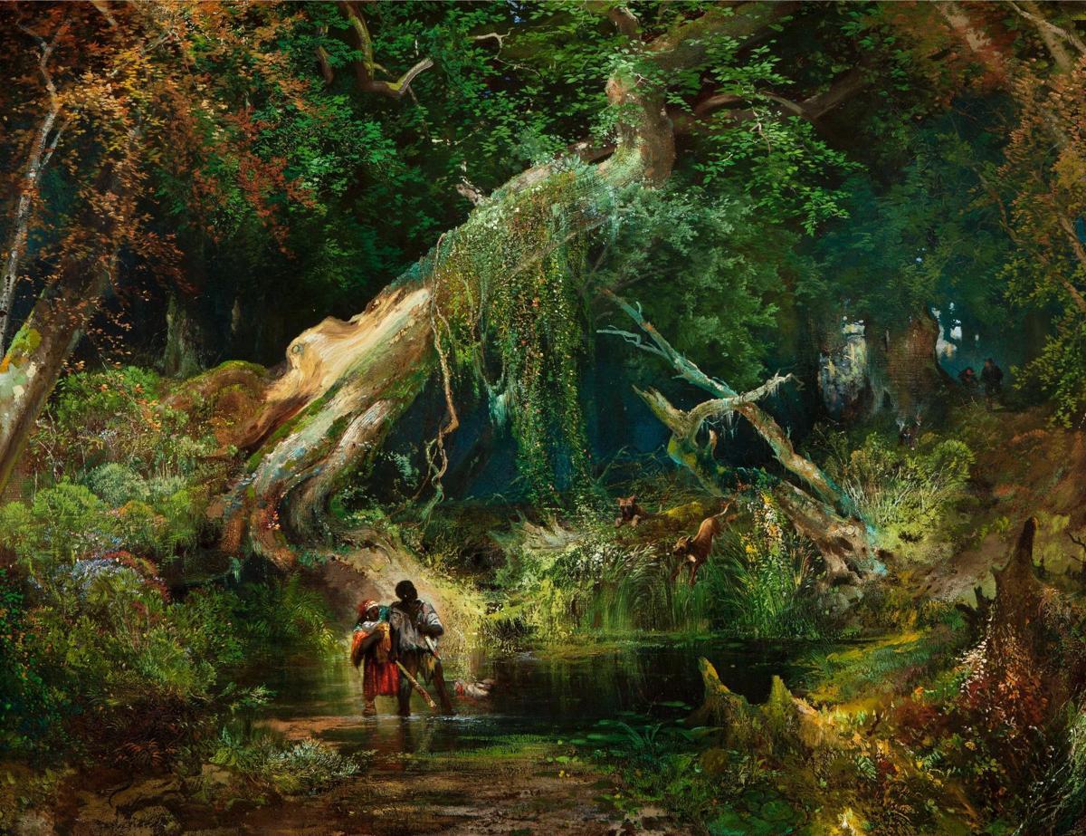 Maroons thomas moran_slave_hunt_dismal_swamp.jpg