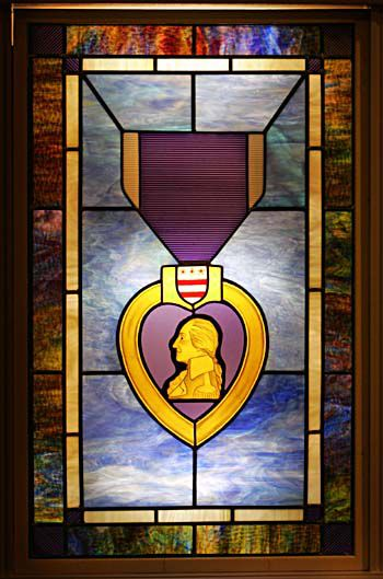 Unveiling of a Purple Heart window