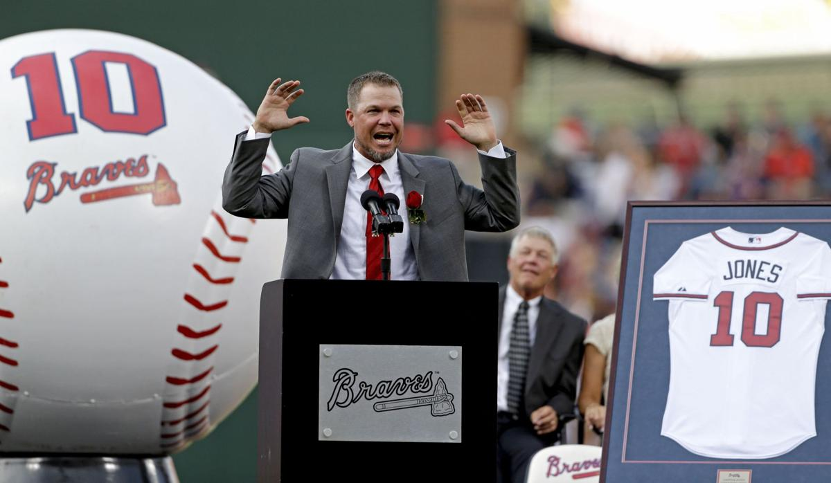 Braves retire Chipper's No. 10 jersey